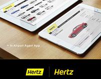 Hertz Rental Car - Emails, App & Display Design