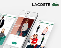 LACOSTE INTERFACE DESIGN | EASY & CLEAN