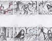 """They Watched Us Kill"" Storyboards (short film)"