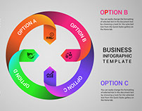 Free Circular Business Infographics Template Download