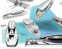 Project of walking boat