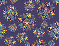 Geometric Pattern Abstract Flower.