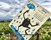 June 2018 Calendar / postcard / silk screenpriting