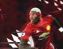 Paul Pogba Manchester United Artwork