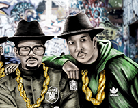 My first Digital Painting -  RUN DMC AND JAM MASTER J