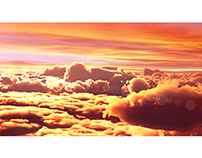 Sunset above the Clouds - CGI