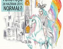 İstanbul LGBTI Pride 2015 Flyer Illustration