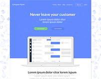 Landing Page for Chatting Startup
