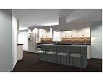 Brown & Green Kitchen