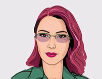 Self Portrait Vector Illustration