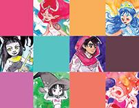 31 Characters - INKTOBER 2016