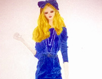 Vestido Veludo Azul