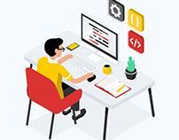 Лендинг для курсов по разработке интерфейсов