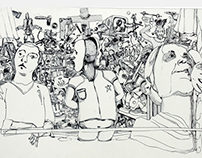 Ballpoint on paper by dimikoko