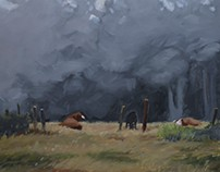 Plein air studies- Painting Techniques final