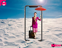 [Free Download] iPhone X Mockup Psd