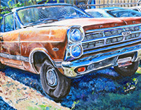 Junk Car Paintings