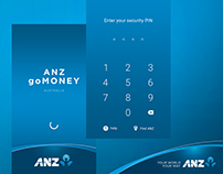 ANZ goMoney App — Splash & PIN Screens