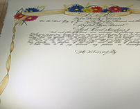Quaker marriage certificate commission