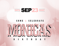 Monica's birthday ( Flyer design )