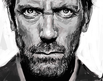 Hugh Laurie Portrait (Digital)