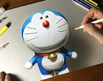 Drawing Doraemon