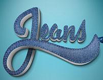 Jeans Lettering