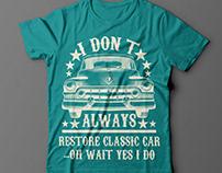 Car niche t shirt design