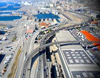 Tilt shift Marseille