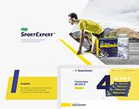 Evalar SportExpert landing page