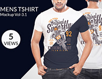 Mens T-shirt Mockup Vol-3.1