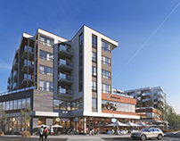 THE SHORE residential building in Kelowna/Canada