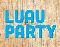 Luau Party Poster