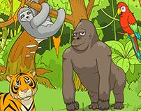 Illustrations of children's educational game