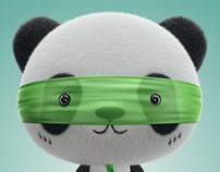 3D panda doll