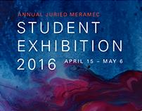 2016 Meramec Student Exhibition Flyer