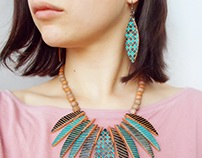 ceramic jewelry on the body