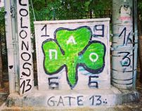 Τοιχογραφία στόν Κολωνό ☘️ - Panathinaikos FC design ☘️
