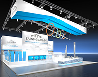 Saint Gobain Booth Visualization for BBCO MesseManufakt