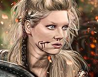 Lagertha of Vikings / Illustration