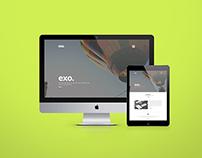 Freebie - EXO One Page PSD Theme