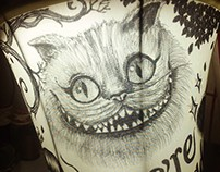 Drawing on lampshade
