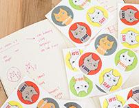 Custom Printed Goods (Cards & Stickers)