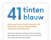 41 Tinten Blauw