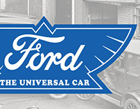 Sign Recreation: 1912 Ford Logo Sign