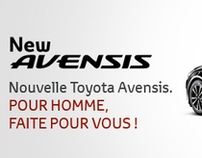 Toyota - New Avensis Web marketing campaign