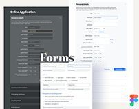 Forms, inputs, text fields for web design templates