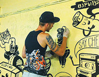 Mural painting for MLounge in Vietnam