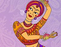 Illustration for Indian Dancing