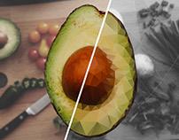 Avocado Low Poly Design Process